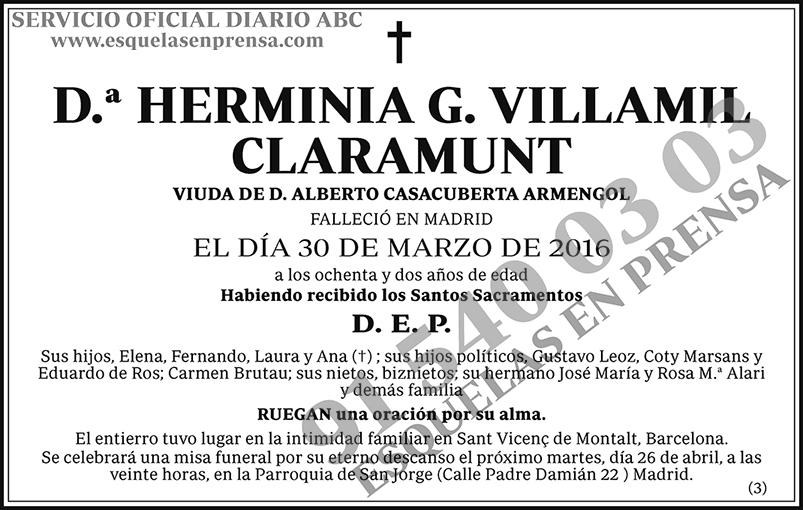 Herminia G. Villamil Claramunt